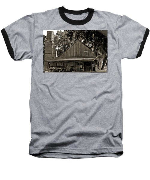 Baseball T-Shirt featuring the photograph Old Spanish Sugar Mill Old Photo by DigiArt Diaries by Vicky B Fuller