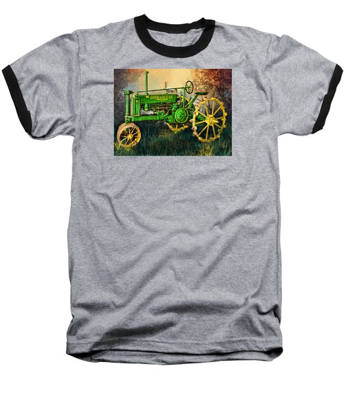 Baseball T-Shirt featuring the digital art Old Tractor by Mary Almond