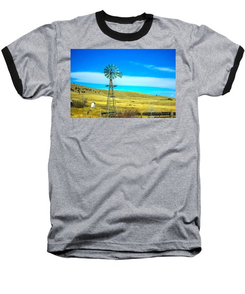 Baseball T-Shirt featuring the photograph Old Windmill by Shannon Harrington