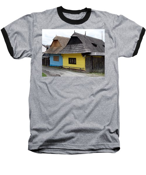 Baseball T-Shirt featuring the photograph Old Wooden Homes by Les Palenik