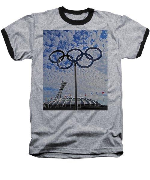 Olympic Stadium Montreal Baseball T-Shirt