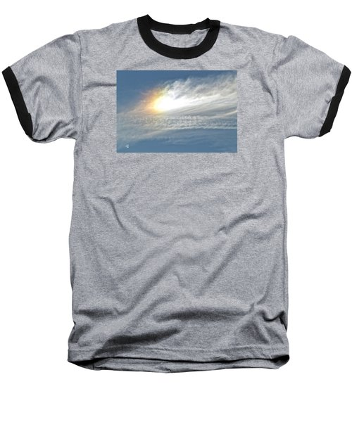 Baseball T-Shirt featuring the photograph On High by Barbara Middleton