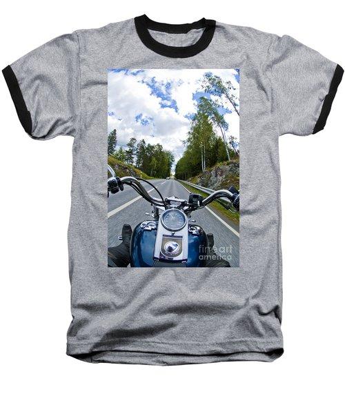 On The Bike Baseball T-Shirt by Micah May