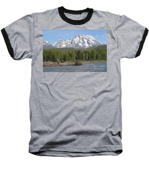 On The Snake River Baseball T-Shirt by Living Color Photography Lorraine Lynch