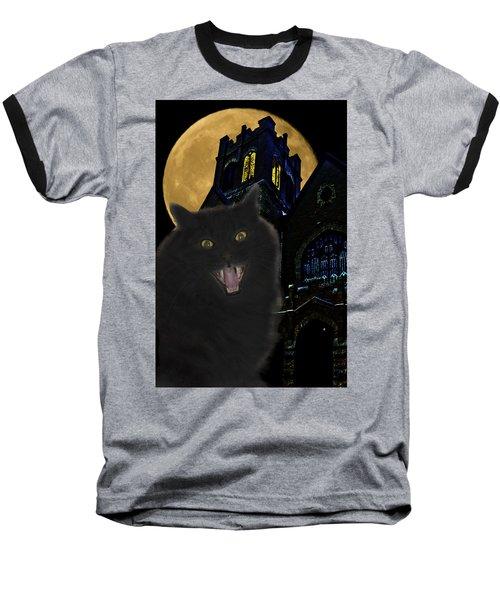 One Dark Halloween Night Baseball T-Shirt