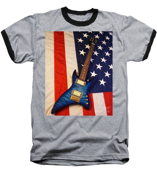 One Of A Kind...  Made In The U. S. A. Baseball T-Shirt by Tony Cooper