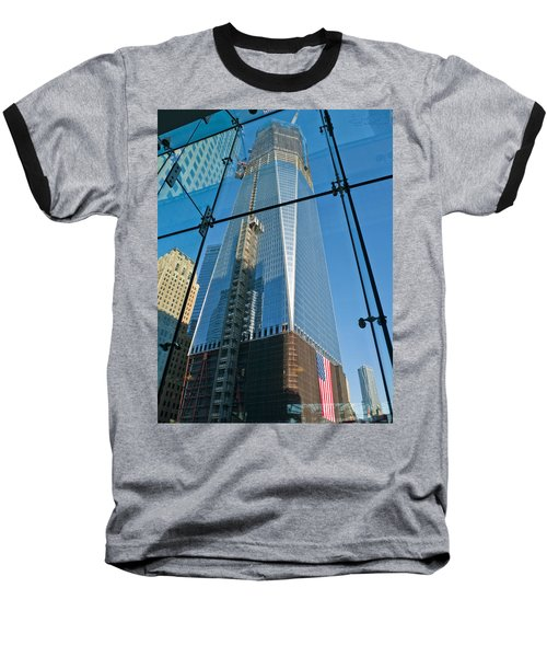 One Wtc Rising Baseball T-Shirt