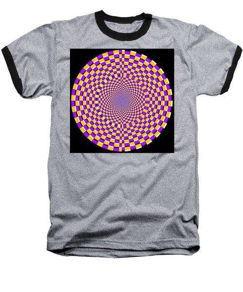 Optical Illusion Moving Cobweb Baseball T-Shirt