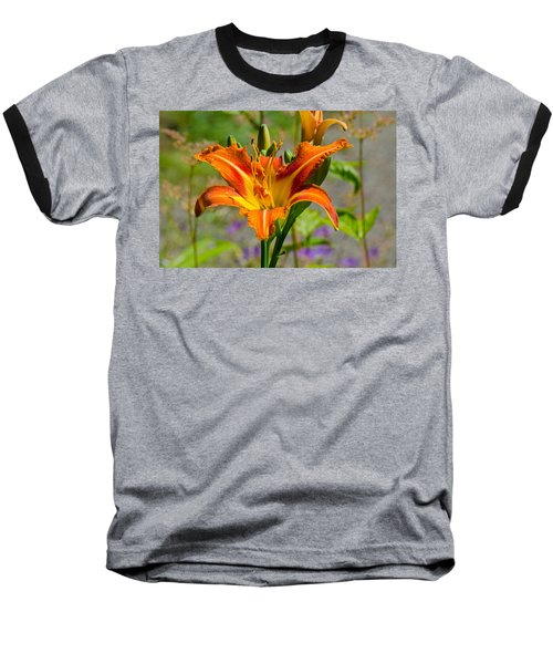 Baseball T-Shirt featuring the photograph Orange Day Lily by Tikvah's Hope