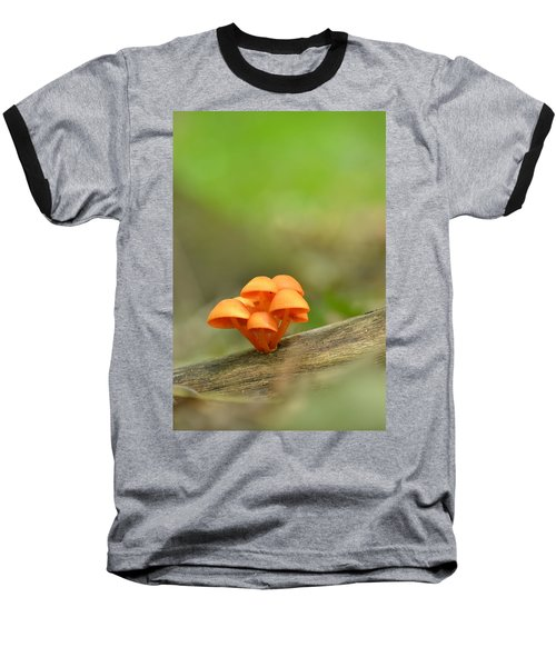 Baseball T-Shirt featuring the photograph Orange Mushrooms by JD Grimes