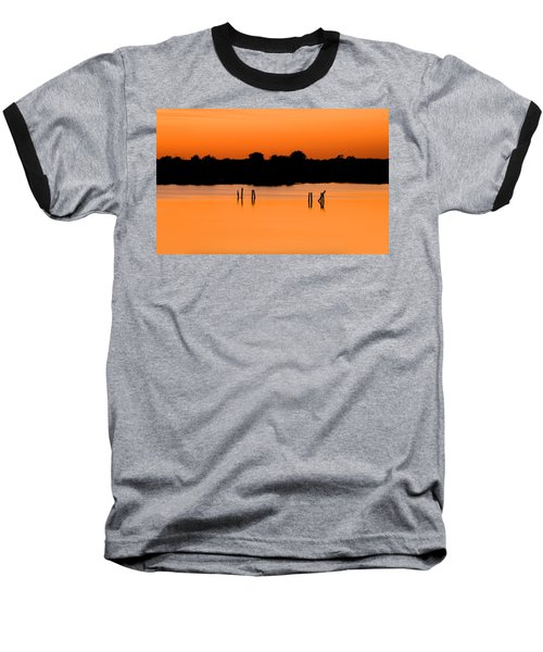 Orange Sunset Florida Baseball T-Shirt