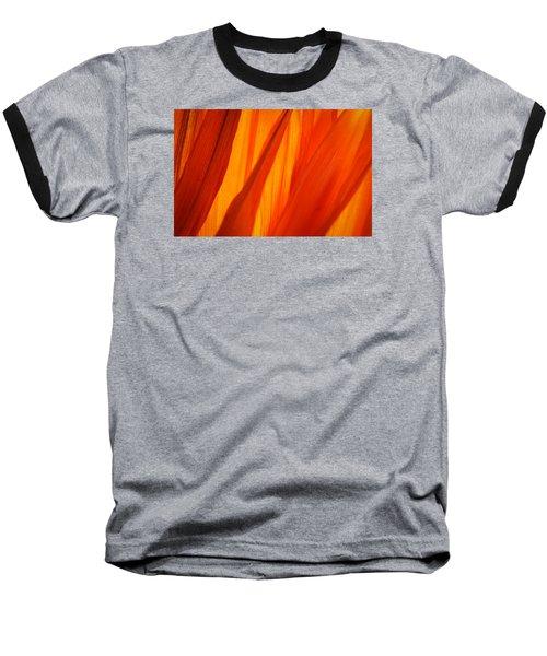 Orange Sunshine Baseball T-Shirt by Bobby Villapando