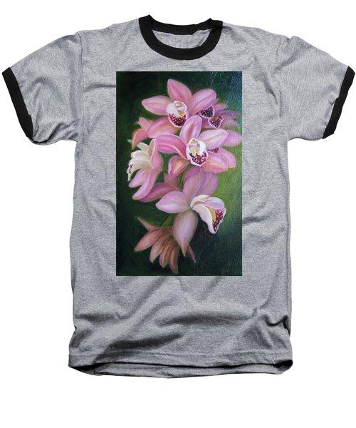 Orchids Baseball T-Shirt by Marlyn Boyd
