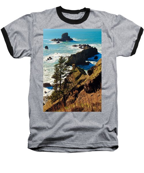 Baseball T-Shirt featuring the photograph Oregon Coast by Athena Mckinzie
