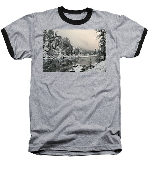 Orofino Snow Clearwater River Baseball T-Shirt