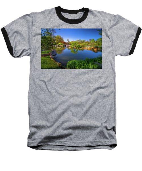 Osaka Garden Pond Baseball T-Shirt