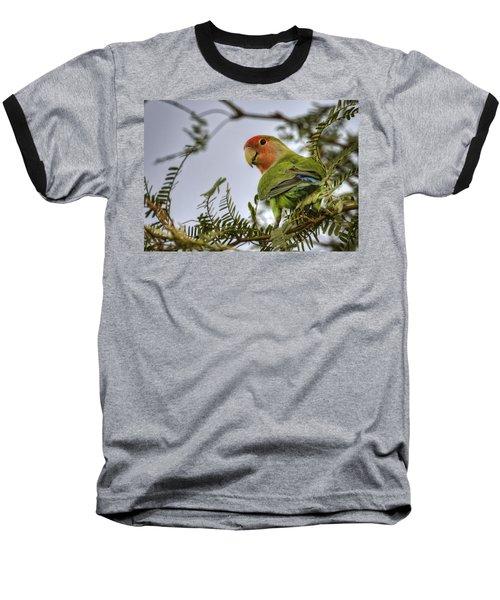 Over My Shoulder  Baseball T-Shirt by Saija  Lehtonen