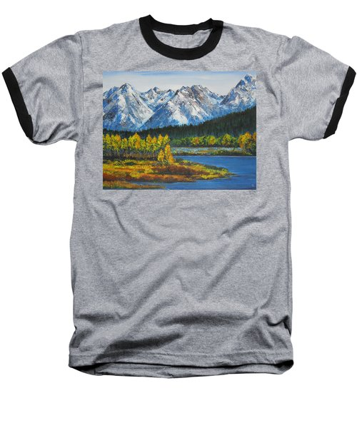 Oxbow-grand Tetons  Baseball T-Shirt