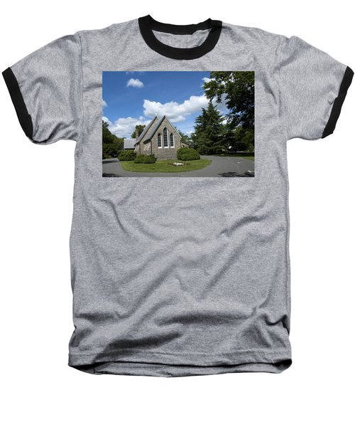 Baseball T-Shirt featuring the photograph Oxford Church by Charles Kraus