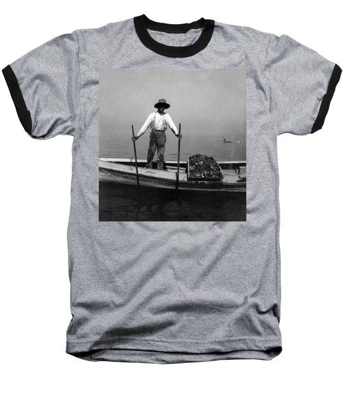 Oyster Fishing On The Chesapeake Bay - Maryland - C 1905 Baseball T-Shirt by International  Images