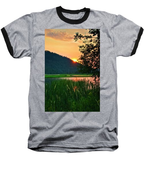 Baseball T-Shirt featuring the photograph Pack River Delta Sunset 2 by Albert Seger
