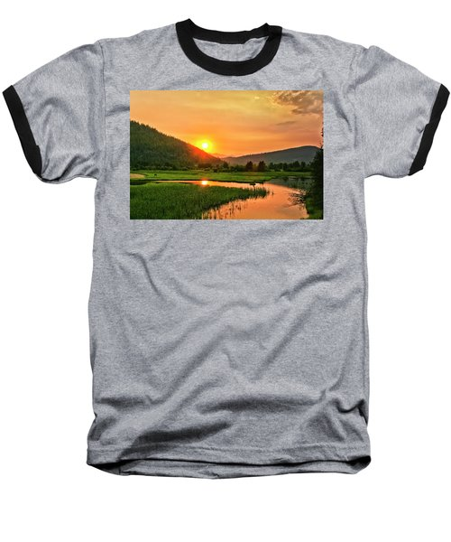 Baseball T-Shirt featuring the photograph Pack River Delta Sunset by Albert Seger