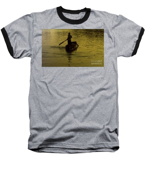 Baseball T-Shirt featuring the photograph Paddle Boy by Lydia Holly
