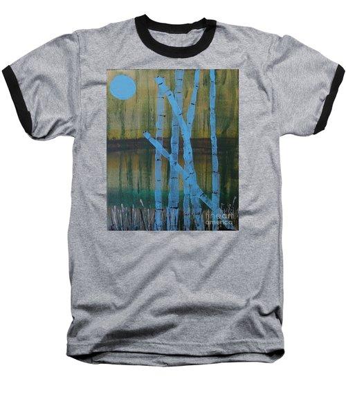 Pale Blue Moon Baseball T-Shirt