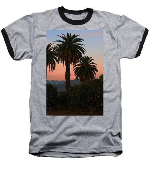 Palm Trees And Orange Trees Baseball T-Shirt