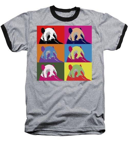 Panda Pop Art 2 Baseball T-Shirt