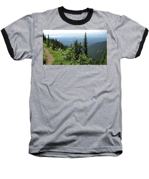 Panoramic Jewel Basin Montana Baseball T-Shirt