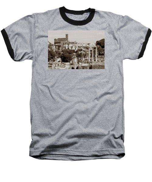 Panoramic View Via Sacra Rome Baseball T-Shirt
