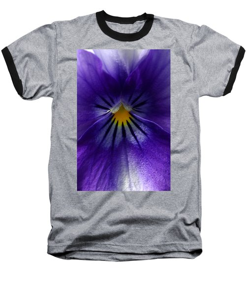 Pansy Abstract Baseball T-Shirt by Lisa Phillips