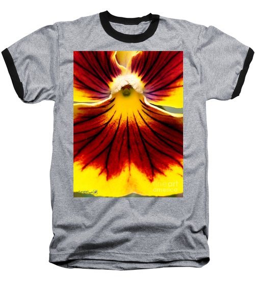 Baseball T-Shirt featuring the photograph Pansy Named Imperial Gold Princess by J McCombie