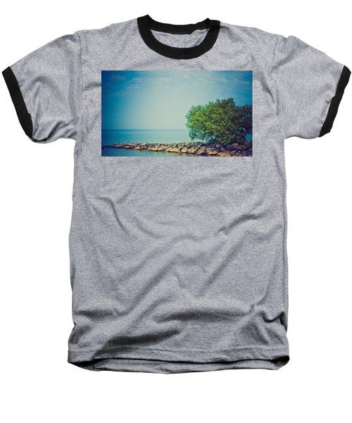 Baseball T-Shirt featuring the photograph Paradise Cove by Sara Frank