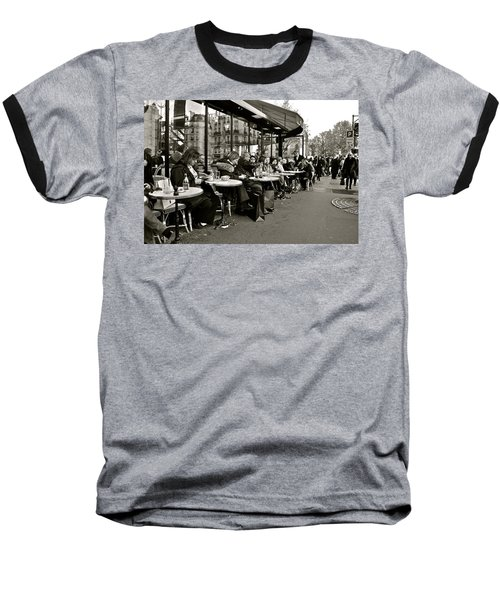 Baseball T-Shirt featuring the photograph Paris Cafe by Eric Tressler