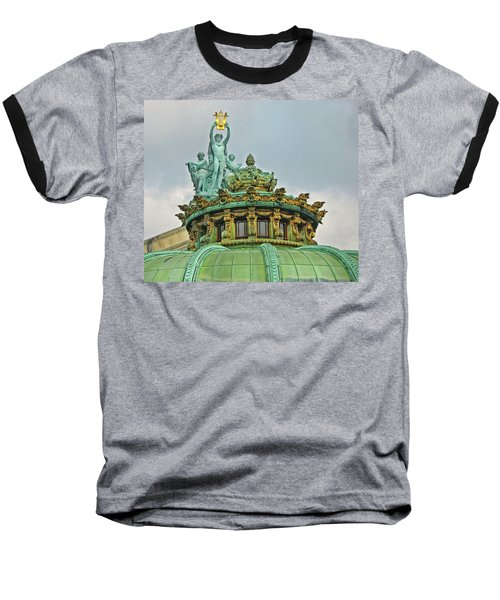 Baseball T-Shirt featuring the photograph Paris Opera House Roof by Dave Mills