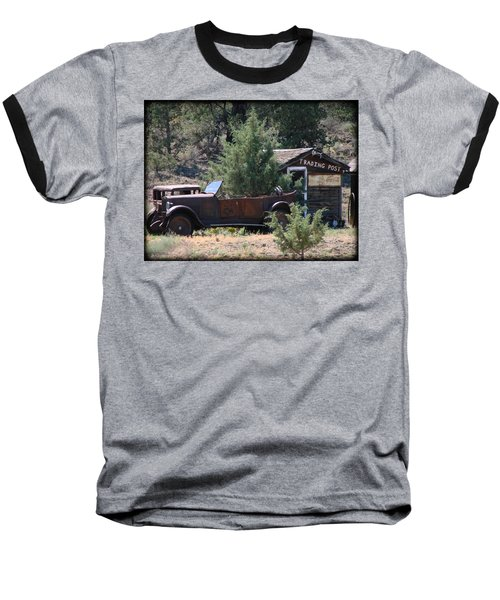 Parked At The Trading Post Baseball T-Shirt by Athena Mckinzie