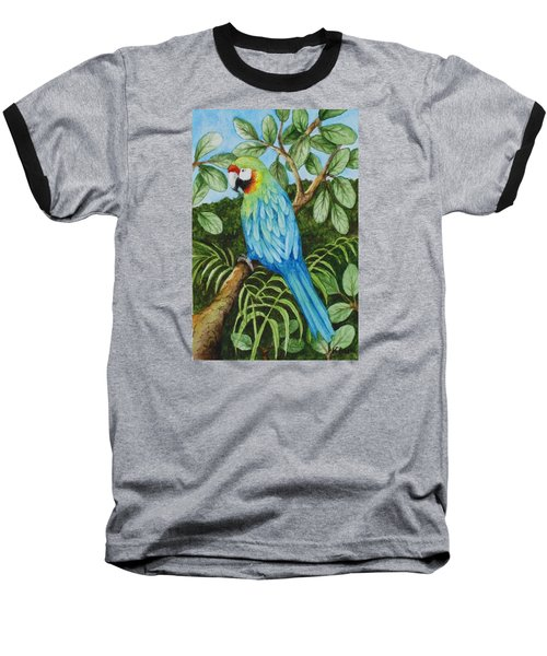 Parrot Baseball T-Shirt by Katherine Young-Beck