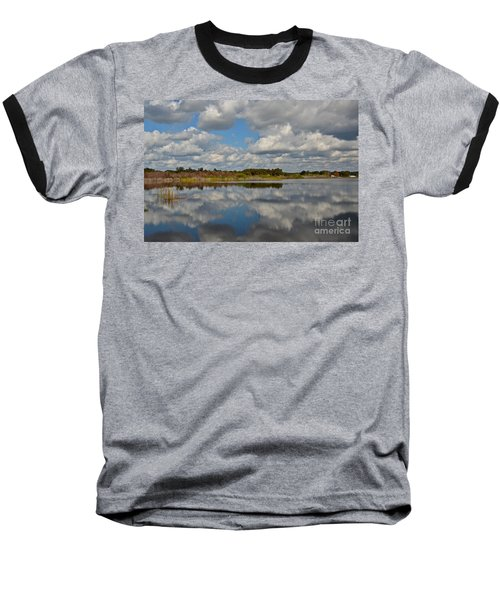 Partly Cloudy Baseball T-Shirt by Carol  Bradley