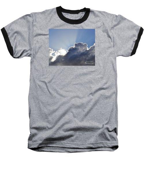 Partly Cloudy Baseball T-Shirt by Rebecca Margraf