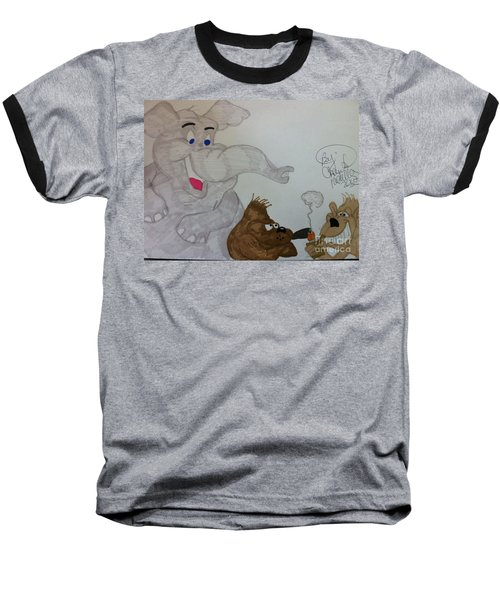 Partying Animals Cartoon Baseball T-Shirt