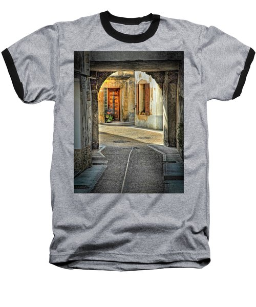 Baseball T-Shirt featuring the photograph Passageway And Arch In Provence by Dave Mills