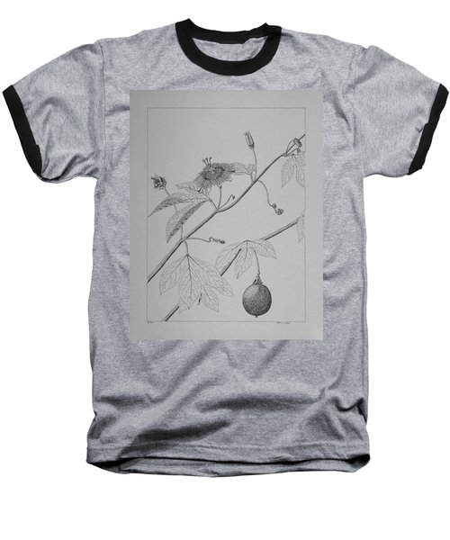 Passionflower Vine Baseball T-Shirt