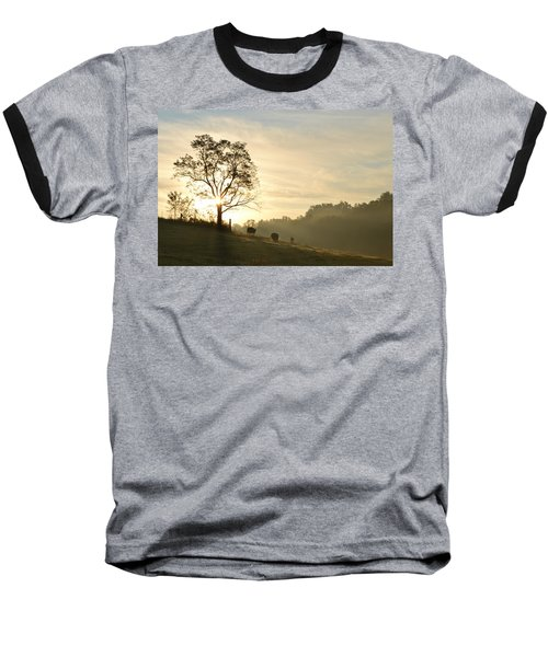 Pasture Sunrise Baseball T-Shirt