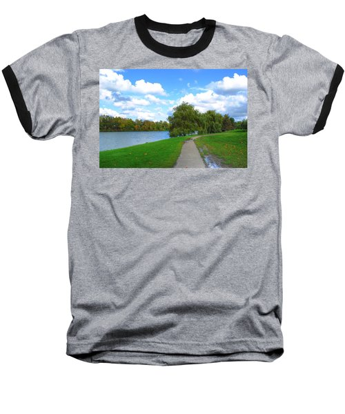 Baseball T-Shirt featuring the photograph Path by Michael Frank Jr