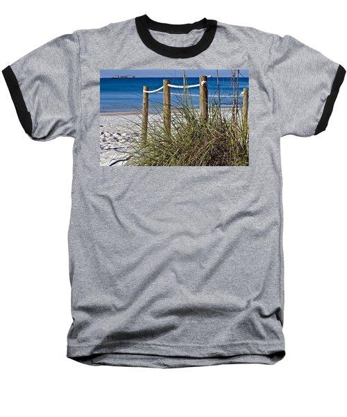 Baseball T-Shirt featuring the photograph Path To The Beach by Susan Leggett