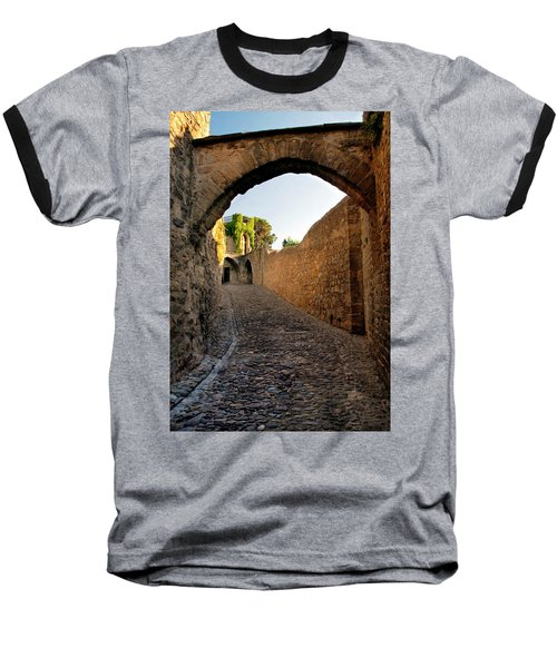 Baseball T-Shirt featuring the photograph Pathway Through Gordes France by Dave Mills