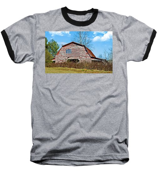 Patriotic Barn Baseball T-Shirt
