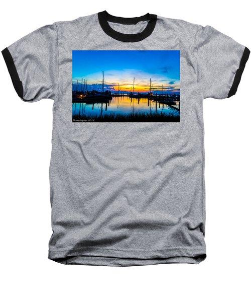 Peacefull Sunset Baseball T-Shirt by Shannon Harrington